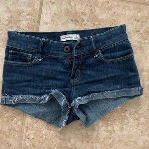 dark wash short abercrombie jean shorts